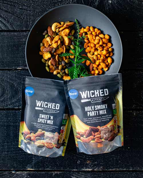 sweet and spicy plant based snack mix